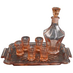 Art Deco Czech Liqueur Stock