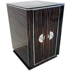 Modern Macassar Design Cabinet or Bar, Customizable