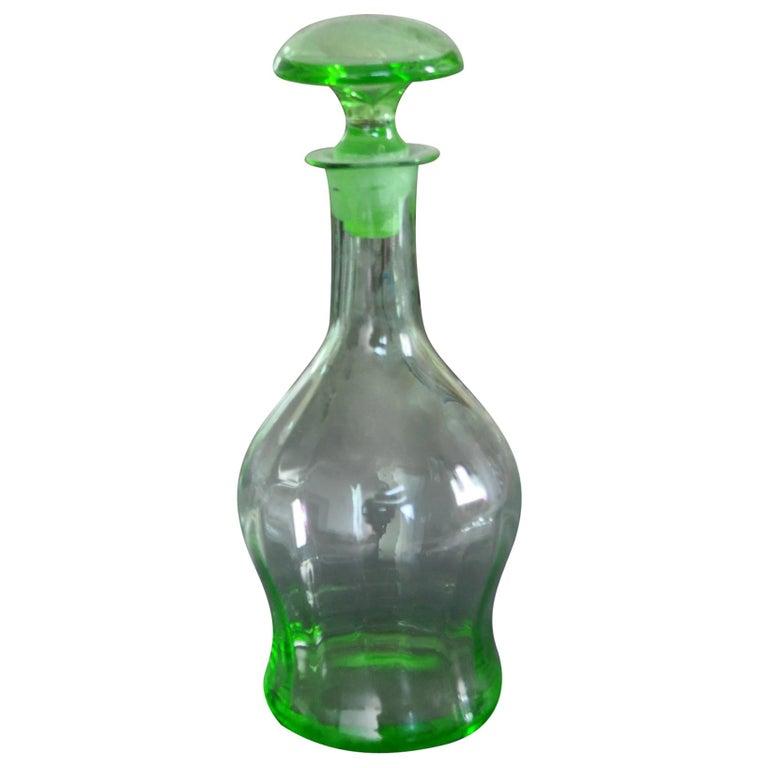 Art Deco Czech Liqueur Decanter Bottle For Sale