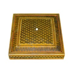 Antique Sadeli Ware Box, Anglo-Indian, Jewellery, Late 19th Century