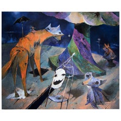 Ivan Semiletov Oil on Canvas Dreams of an Old Park