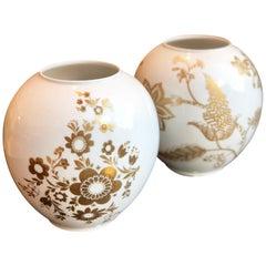 Vintage Floral Vase by Heinrich