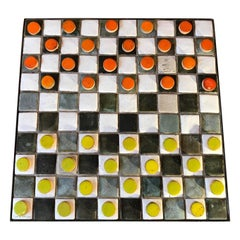 Checkers Board or Coffee Table by Les 2 Potiers