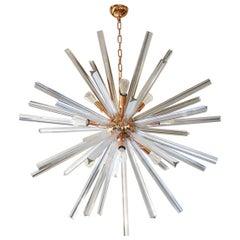 Camer Glass Mid-Century Modern Crystal Murano Chandelier Sputnik, 1982