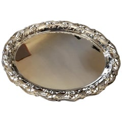 Antique Oval Silver Tray