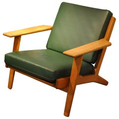 Hans Wegner GE290 Lounge Chair, Original, 1950s