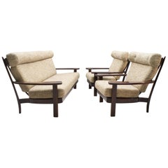 Brazilian Living Room Set in the Manner of Sergio Rodrigues, 1960s