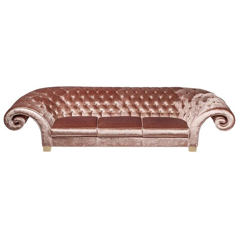 Sofa Versailles, Capitonné Backrest, Italy For Sale