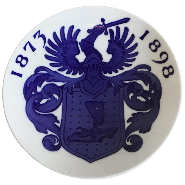 Royal Copenhagen Commemorative Plate from 1898 RC-CM23 For Sale