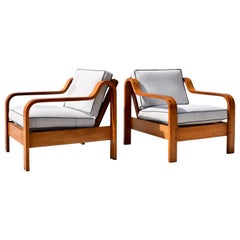 Taylor Ramsey Bentwood Lounge Chairs in the manner of Thonet, Pair