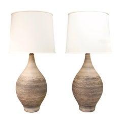 Design Technics Pair of Studio Made Ceramic Table Lamps 1960s 'Signed'