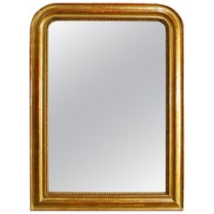 Antique French Gold Leaf Gilded Louis Philippe Mirror
