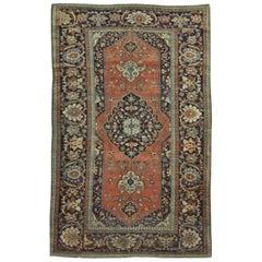 Antique Hand Knotted Persian Sarouk Farahan Rug