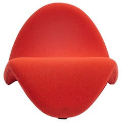 Tongue Chair by Pierre Paulin for Artifort, Fabric Soft Orange, 1970s