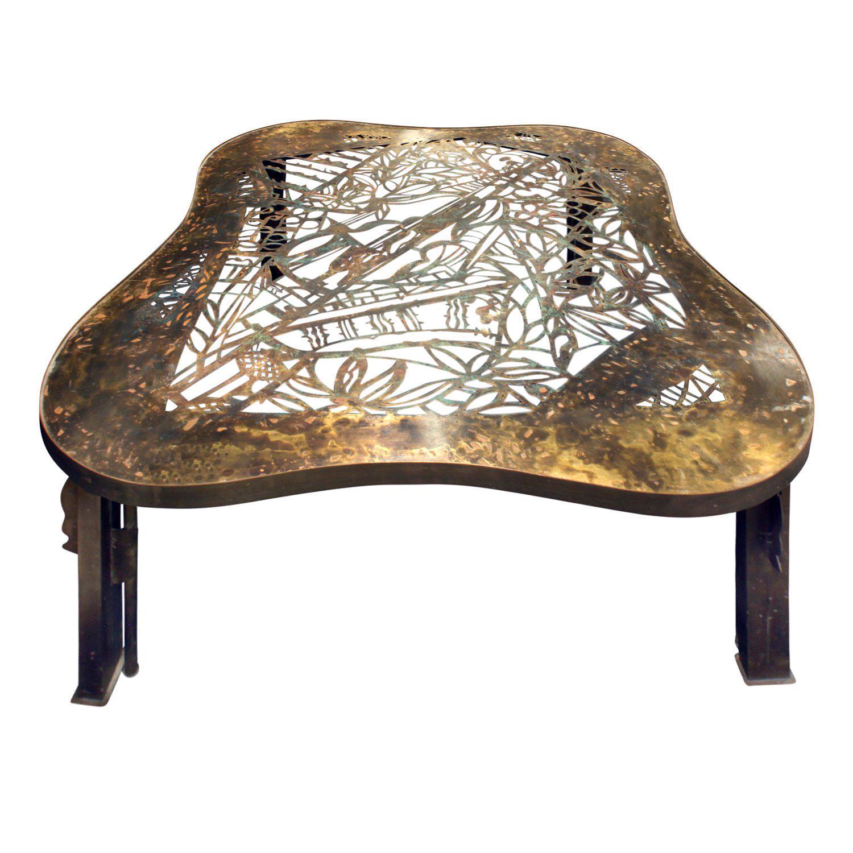 "Philip & Kelvin LaVerne Rare and Important ""Viola"" Coffee Table, 1960s"