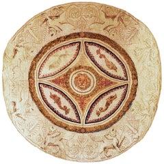 Antique English Axminster Circular Rug