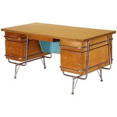 Mid-Century Modern Heywood-Wakefield Trimline Desk by KEM Weber 1950s