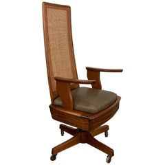 Mid-Century Modern High Back Executive Office Chair