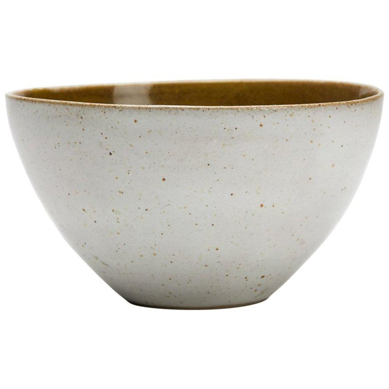 Lucie Rie & Hans Coper Studio Pottery Mustard Glazed Bowl For Sale