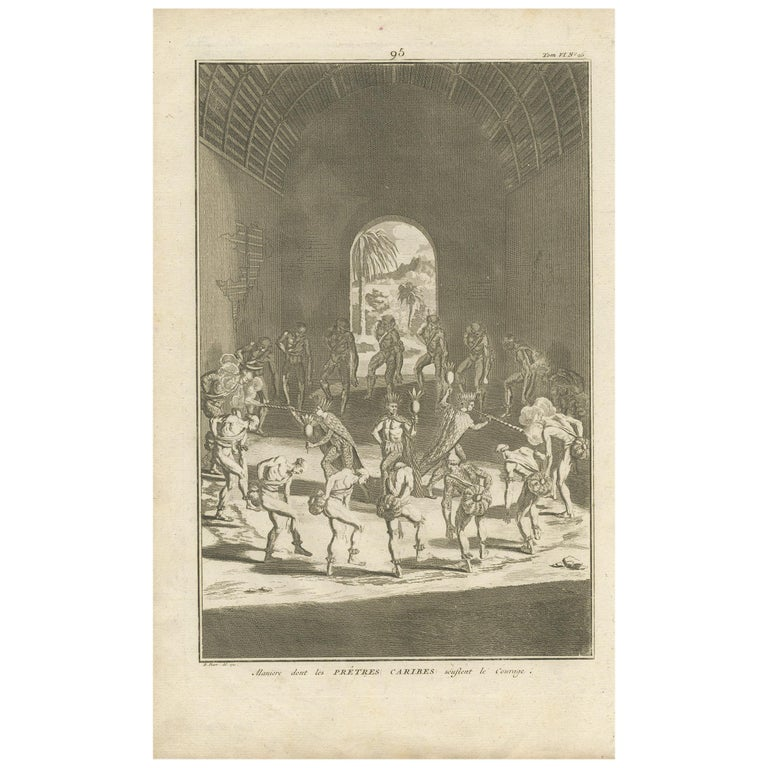 Antique Print of Native Americans by Picart '1721' For Sale
