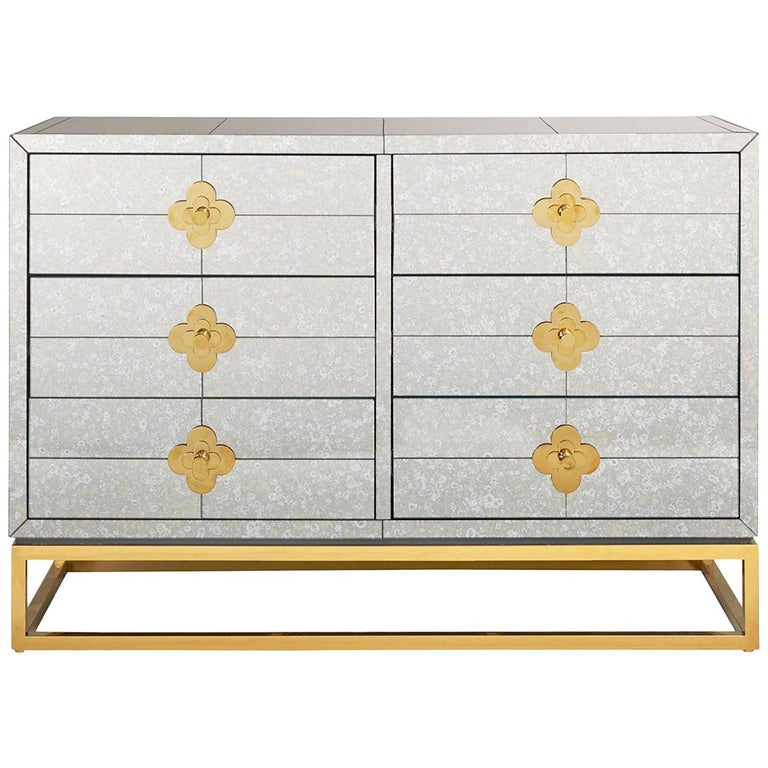 Delphine Mirrored Dresser For Sale