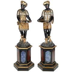 Pair of 19th Century Venetian Blackamoor Figures