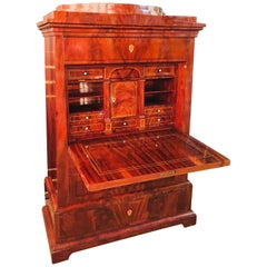 Empire or Biedermeier Secretary Mahogany, 1815