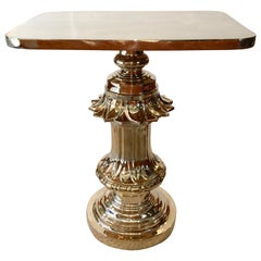 Zach Gabbard Polished Bronze Old Boston Street Lamp Post Table