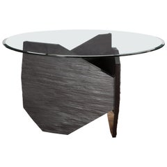 Marble Slate Dining Table Signed by Frédéric Saulou