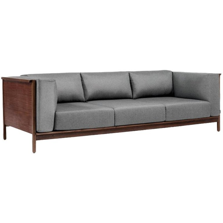 Tres Plazas Confort, Mexican Contemporary Sofa by Emiliano Molina for Cuchara For Sale