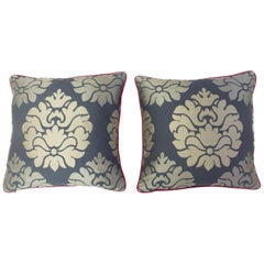 Lotus Damask Throw Pillows