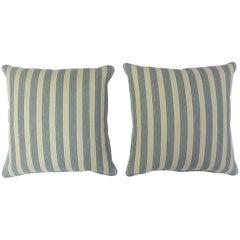 Pinstripe Navy Pillows