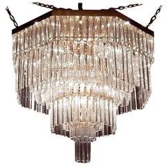 1970 Chandelier Ceiling Lamp Murano Venini