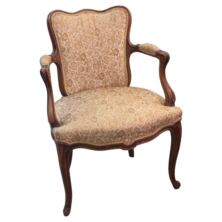 Elegant Pair of Antique French Armchairs in Louis XV Style, circa 1880 For Sale