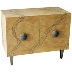 "Ash and Titanium Sideboard ""Entrelacs"" - Contemporary, Limited Edition"