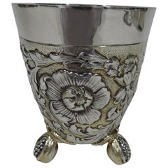 Antique German Baroque-Style Parcel Gilt Silver Beaker