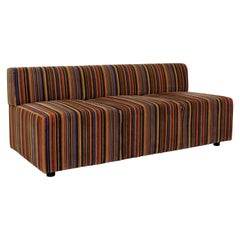 Contemporary Modernist Vintage Style Coalesse Steelcase Loveseat Sofa Striped