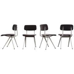 Set of 4 Grey Velvet Friso Kramer 'Result' Chairs for Ahrend de Cirkel