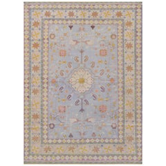 Handwoven Mid-20th Century India Dhurrie Rug
