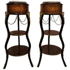 Pair of Champagne Bucket Columns Mini-Bar Louis XVI, circa 1800