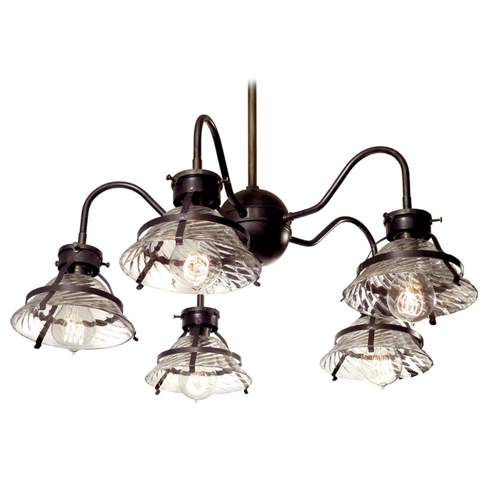 Five Shade X-Ray Chandelier