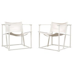 Canvas Pastoe Cube Lounge Chairs by Radboud Van Beekum