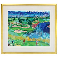 Contemporary Modern Framed The Cove at Vintage Serigraph by Leroy Neiman 356/375