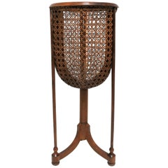 Vintage Wicker Cane Plant Stand