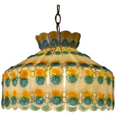 1960s Fused Art Glass Chandelier in the Manner of Michael and Frances Higgins