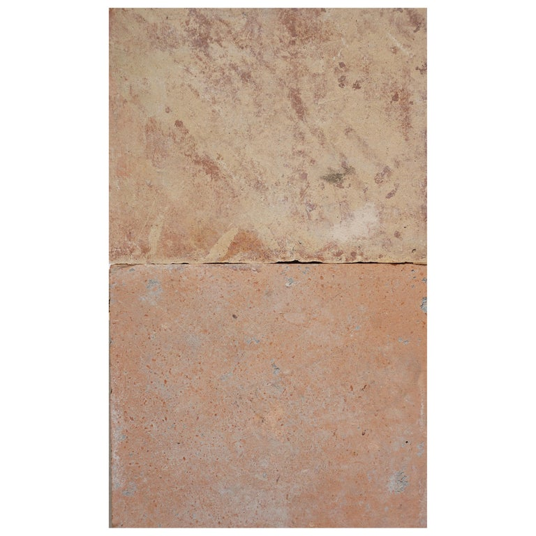 Large Antique Terracotta Square Flooring For Sale