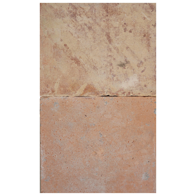 Large Antique Terracotta Square Flooring