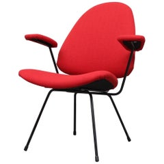 Red Kembo Wire Frame Armchair