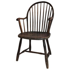 Early 19th Century New England Windsor Armchair