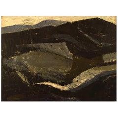 Frank Hammershøi Danish Painter, Oil on Board, Modernist Landscape